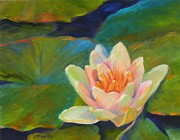 Creative Painting Metal Prints - Lotus Metal Print by Chris Brandley