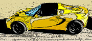 Sam Sheats Framed Prints - Lotus Elise side study Framed Print by Samuel Sheats