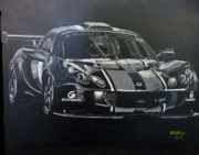 Gt3 Prints - Lotus Exige GT3 Print by Richard Le Page