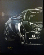 Gt3 Prints - Lotus Exige GT3 side Print by Richard Le Page
