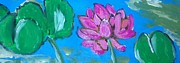 Crimson Lilies Prints - Lotus Flower Print by Julie Butterworth