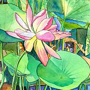Marionette Paintings - Lotus Flower by Marionette Taboniar