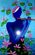 Gopala Paintings - Lotus Krishna by Times Art