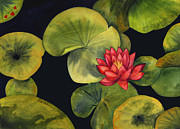 Healing Paintings - Lotus Light Jade by Leslie Marcus