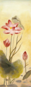 Symbole Painting Framed Prints - Lotus Framed Print by Michal Shimoni