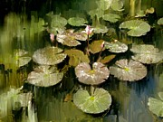 Indian Digital Art - Lotus Pond 3 by Usha Shantharam