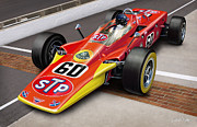 Painted Walls Prints - Lotus STP Indy Turbine Print by David Kyte