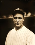 Hall Of Famer Prints - Lou Gehrig Print by Pg Reproductions