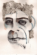 Rock Portraits Mixed Media Originals - Lou Reed by Mark M  Mellon