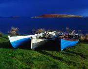 Row Boat Prints - Lough Corrib, County Galway, Ireland Print by The Irish Image Collection