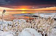 Neagh Prints - Lough Neagh Sunset Print by John Taggart