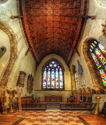 Christian Framed Prints Posters - Loughborough Church - Altar Vertorama Poster by Yhun Suarez