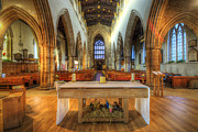 Church Framed Prints Posters - Loughborough Church Altar Poster by Yhun Suarez