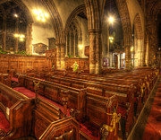 Christian Framed Prints Posters - Loughborough Church Pews Poster by Yhun Suarez