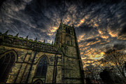 Sunset Framed Prints Framed Prints - Loughborough Parish Church Framed Print by Yhun Suarez