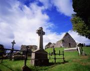 The Wooden Cross Photo Prints - Loughinisland, Co. Down, Ireland Print by The Irish Image Collection