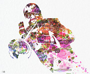 Playing Painting Prints - Louis Armstrong 2 Print by Irina  March