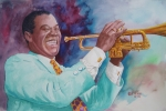 Louis Paintings - Louis Armstrong by Charles Hetenyi