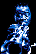 African American Digital Art Metal Prints - Louis Armstrong Metal Print by DB Artist