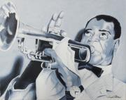 Joseph Palotas Paintings - Louis Armstrong by Joseph Palotas