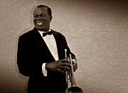 Jazz Stars Art - Louis Armstrong S by David Dehner