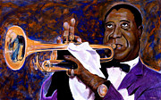 Trumpet Paintings - Louis Armstrong by Vincent Thibodeaux