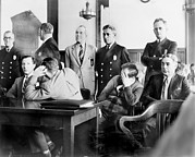 Trial Photo Framed Prints - Louis Buchalter At Murder Trial, Louis Framed Print by Everett