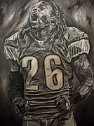 Detroit Lions Paintings - Louis Delmas by David Courson