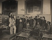 Candid Group Portraits Posters - Louis Firetail, Wearing Sioux Tribal Poster by Everett