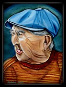 Greeting Cards Reliefs Originals - Louis Henry Lash Sr. by Natalie Trujillo