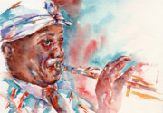 Trumpet Painting Originals - Louis by Stephie Butler