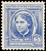 Louisa May Alcott Posters - Louisa May Alcott (1832-1888) Poster by Granger