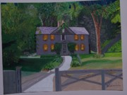 Concord Massachusetts Painting Posters - Louisa May Alcotts Home Poster by William Demboski