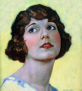 Illustrator Painting Prints - Louise Huff 1920 Print by Stefan Kuhn