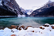 Lake Louise Photos - Louise Ice by Andrea Hazel Ihlefeld