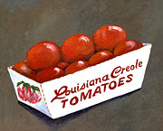 Vegetables Paintings - Louisiana Creole Tomatoes by Elaine Hodges