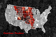 Popart Photo Prints - Louisiana Purchase Coin Map . v1 Print by Wingsdomain Art and Photography