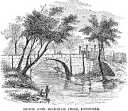 Fishing Creek Posters - LOUISVILLE: BRIDGE, c1850 Poster by Granger