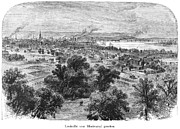 Ohio River Framed Prints - LOUISVILLE, c1870 Framed Print by Granger