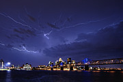 Lightning Strike Art - Louisville Storm - D001917b by Daniel Dempster