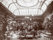 Black And White Photos Prints - Lounge at the Plaza Hotel Print by Henry Janeway Hardenbergh