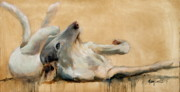 Sight Paintings - Lounging by Mary Leslie