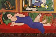 Humorous. Originals - Lounging with Picasso by Susan Rinehart