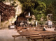 Crutch Framed Prints - Lourdes, France, The Grotto Of Notre Framed Print by Everett