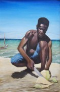 Haitian Paintings - Louverture by Jean-Marie Poisson