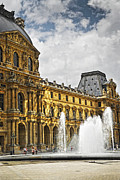 Fountain Photos - Louvre by Elena Elisseeva