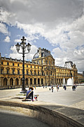 Sights Prints - Louvre museum Print by Elena Elisseeva