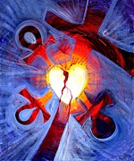 Holy Spirit Painting Prints - Love - In Three ... for All Print by J Vincent Scarpace