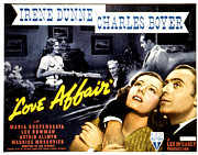Couple In Arms Framed Prints - Love Affair, Irene Dunne, Maria Framed Print by Everett