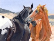 Horse Drawings - Love and Friendship by Nichole Taylor